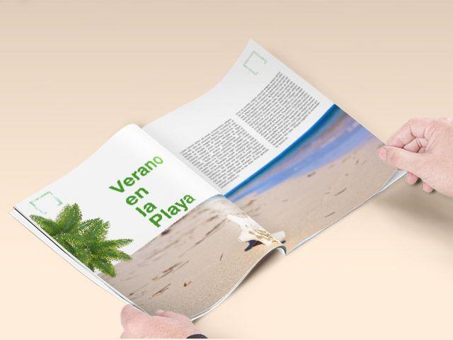 revista abierta full color papel satinado